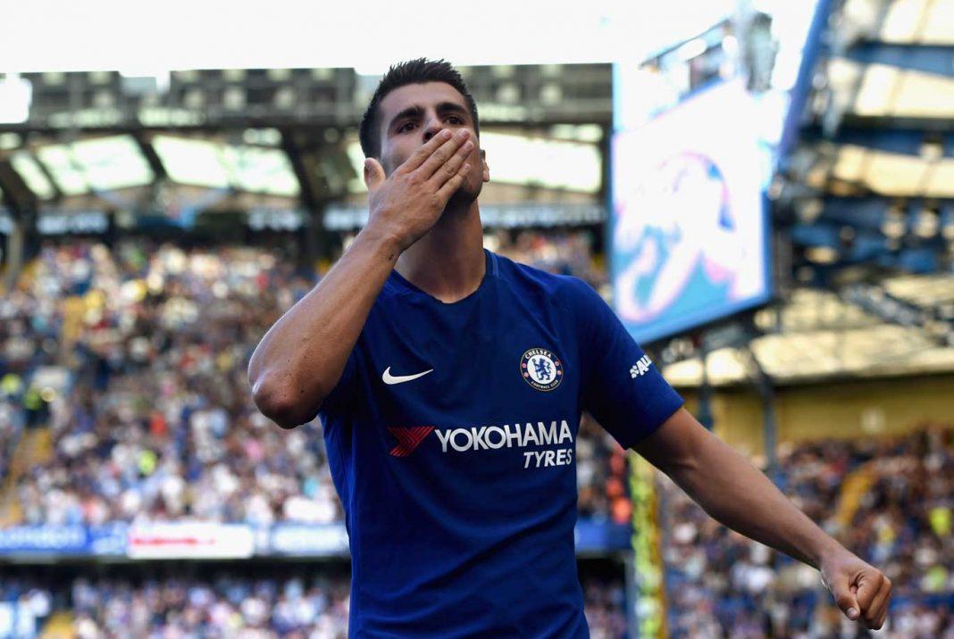 Morata scores against Everton