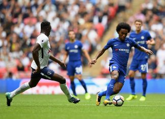 Willian in action against Spurs
