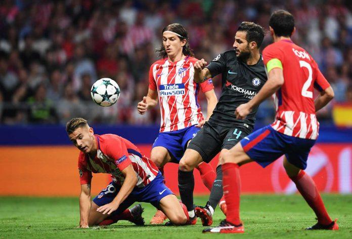 Fabregas against Atletico Madrid