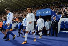 Luiz against Leicester City