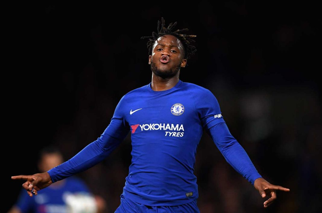 Michy Batshuayi in action against Nottingham Forest