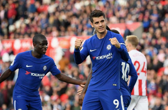 Morata scores against Stoke City