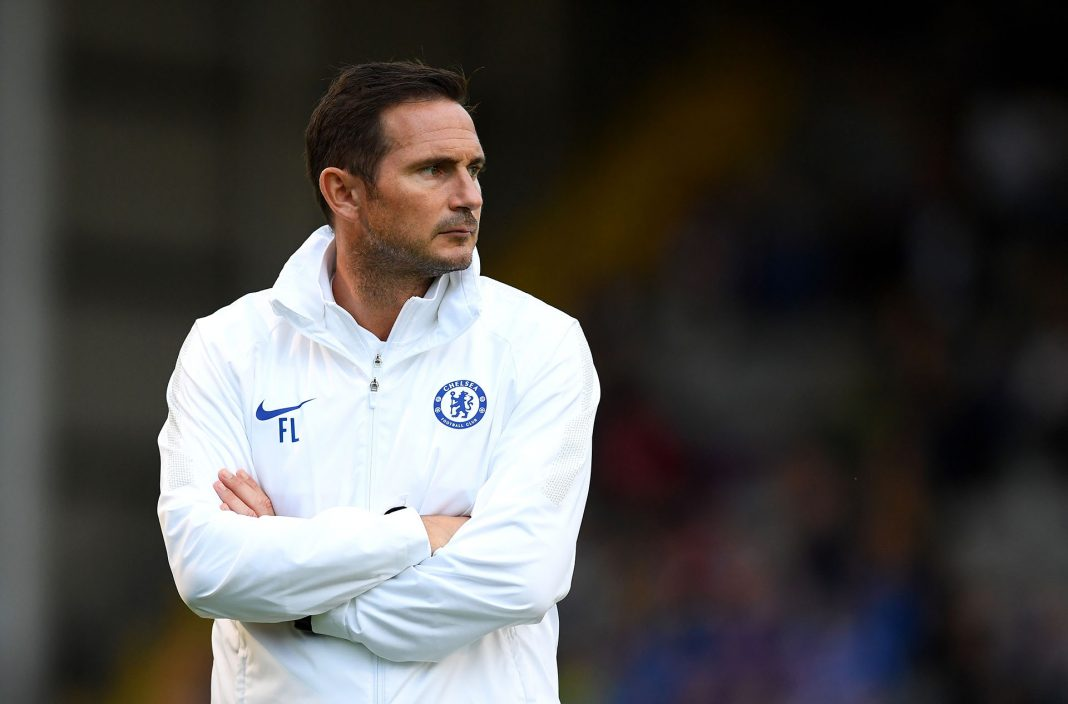 Frank Lampard, Manager of Chelsea looks on during the Pre-Season Friendly match between Bohemians FC and Chelsea FC at Dalymount Park on July 10, 2019 in Dublin, Ireland.