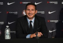 New Head Coach Frank Lampard poses during his press conference at Stamford Bridge on July 4, 2019 in London.