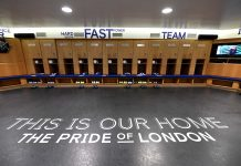 A view inside the Chelsea dressing room ahead of the Premier League match between Chelsea FC and Leicester City at Stamford Bridge on August 18, 2019 in London.